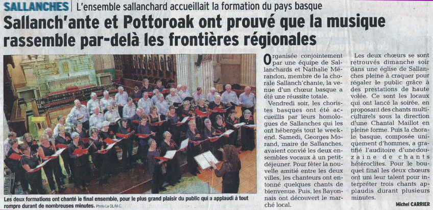 (Français) Article de presse Dauphiné – Sallanches